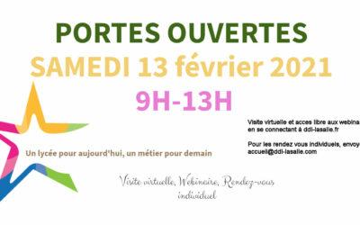 PORTES OUVERTES VIRTUELLES 13 février 2021 de 9h à 13h